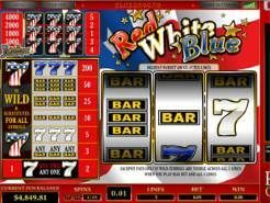 Red White Blue 5 Lines Slots